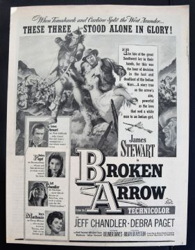 Broken Arrow (1950) - James Stewart | Vintage Trade Ad